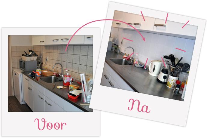 Keuken Tegels Verven : Diy donderdag u mini keuken make over team confetti