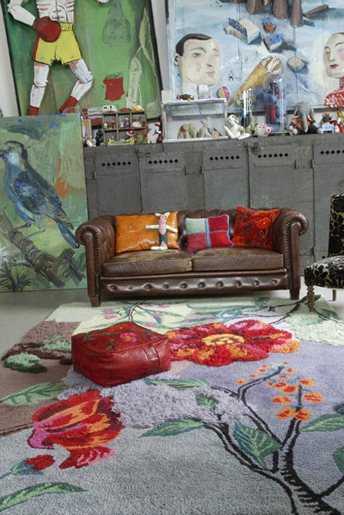 Tuffted wool carpet  210x300 cm Model : Bloom