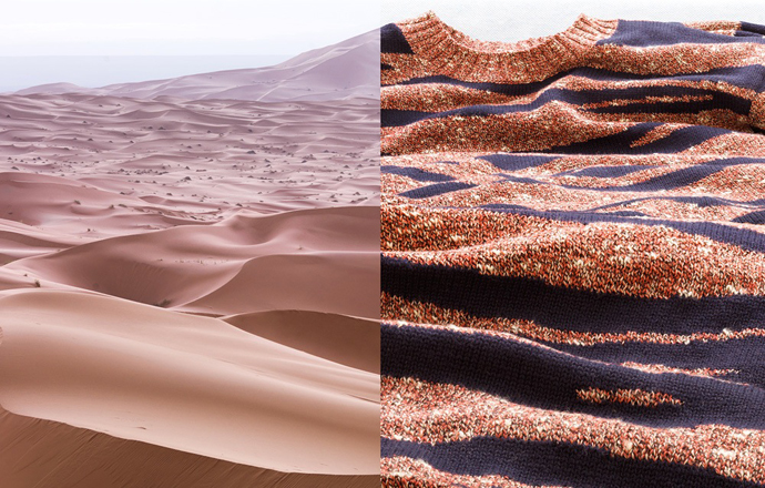 Aerial: Morocco, Merzouga Jumper: Kenzo Background shirt: APC