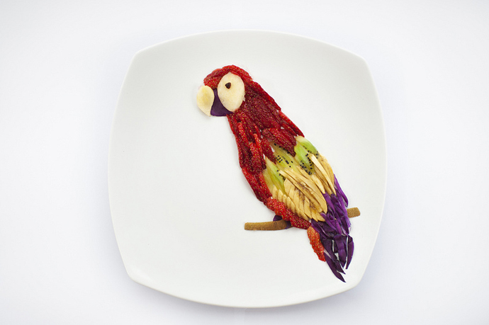 foodart_parrot