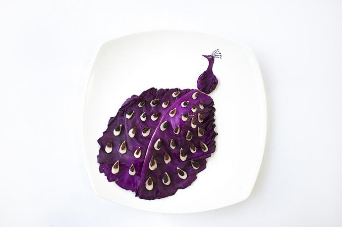 foodart_peacock