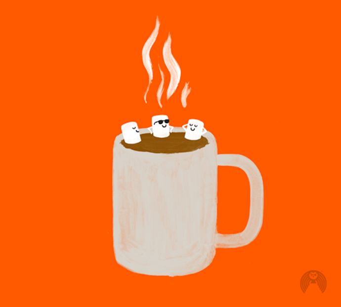 brock davis illustration hot chocolate
