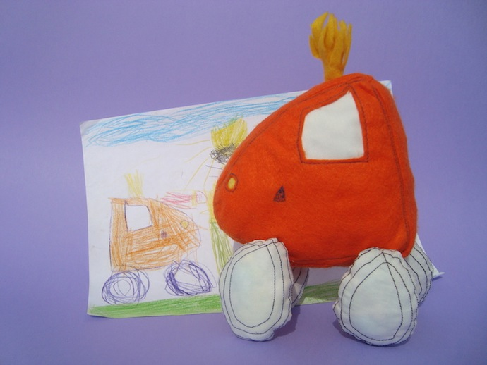 doodle_your_toys stuffed_toy_Car Stuffed Toy