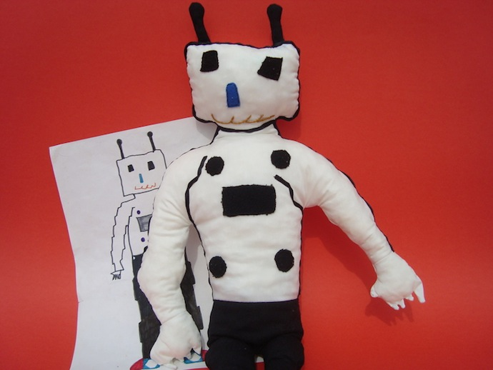 doodle_your_toys stuffed_toy_Robot Custom Made Toy