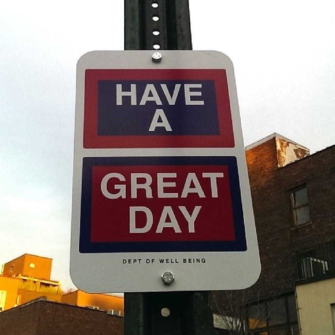 killy kilford street signs new york have a great day