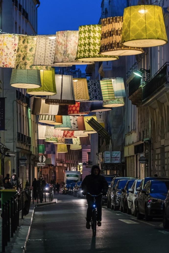 linen lux night lampshades paris street art