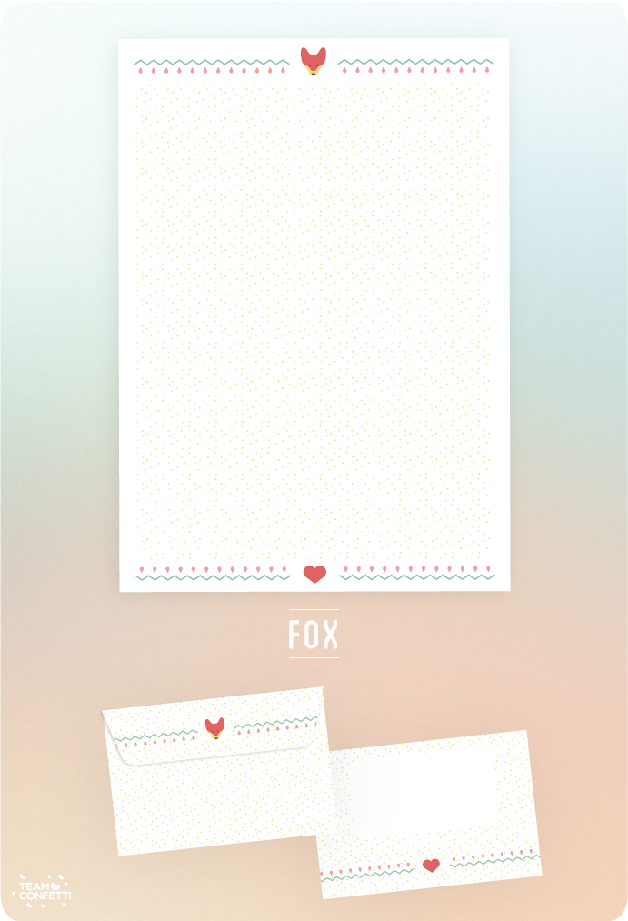 snailmail free download briefpapier fox stationary