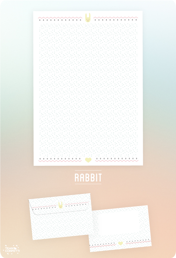snailmail free download briefpapier rabbit stationary