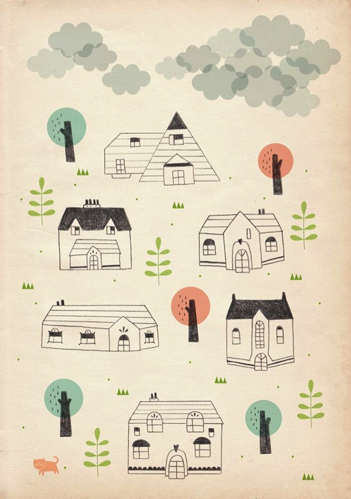 stefania manzi illustration houses