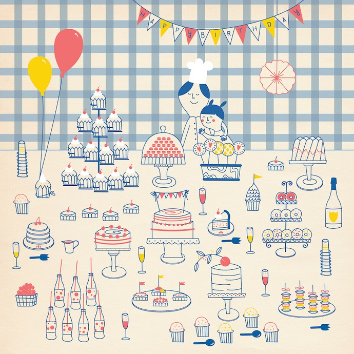 stefania manzi illustration kitchen