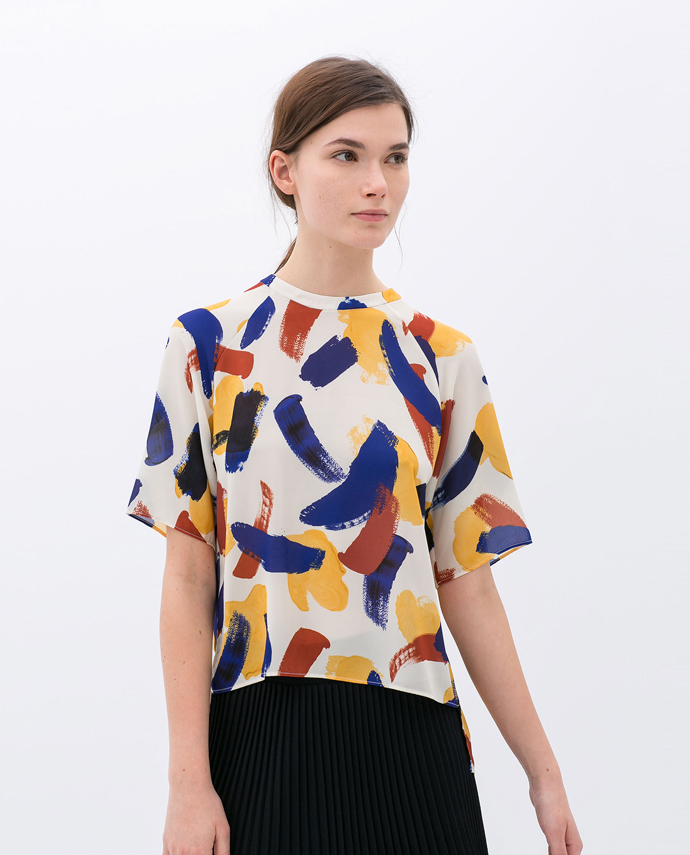 blouse-with-small-brush-strokes-print