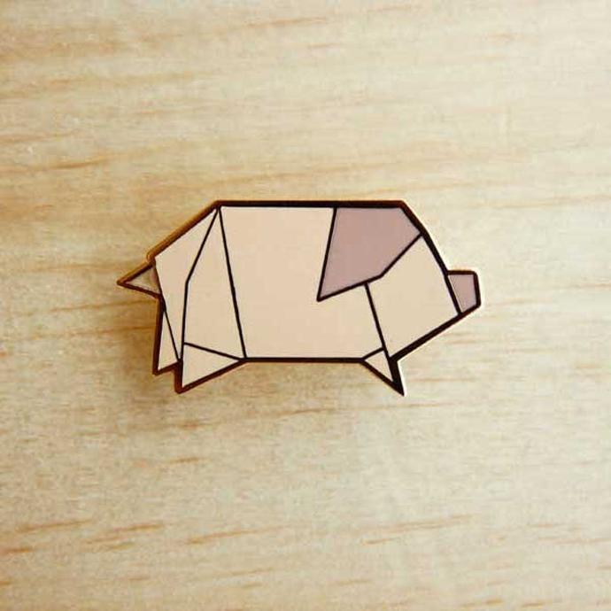 origami_pins_pig