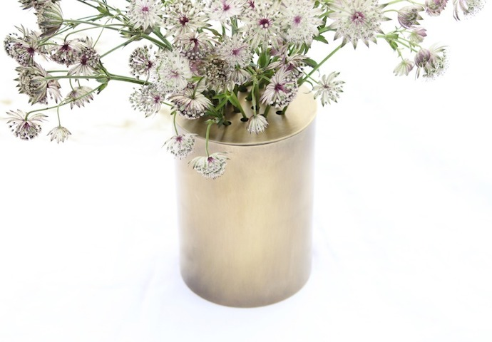 Can Vase by wsake with changeable caps 2