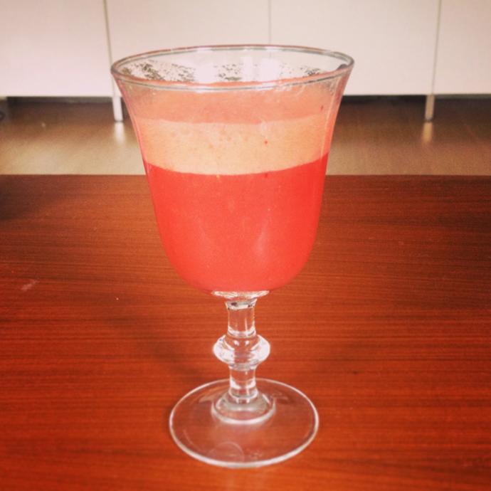 aardbeien sinaasappel smoothie