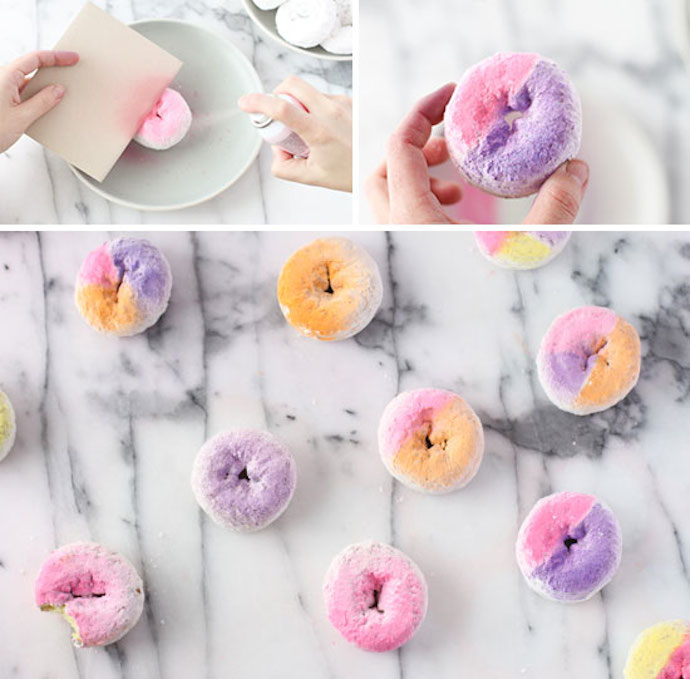 colorblocked and ombre donut diy2