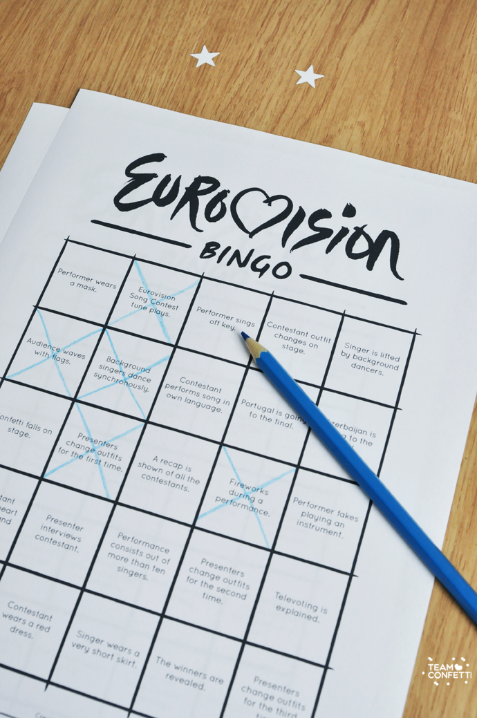 eurovision song contest bingo2