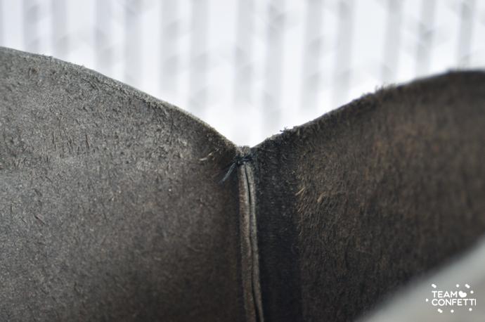 DIY: Leren laarsjes korter maken. | Team Confetti
