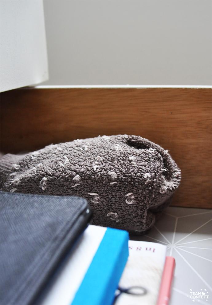 nachtkastje warme sokken