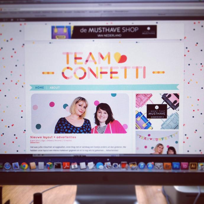 nieuwe layout team confetti