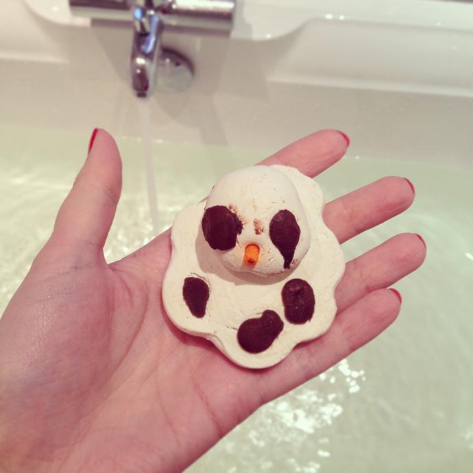 snowman lush melting