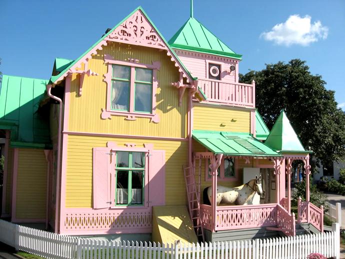 Het huis van Pipi Langkous: Vila Kakelbont.