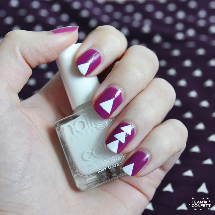 barry m purple triangle nailart