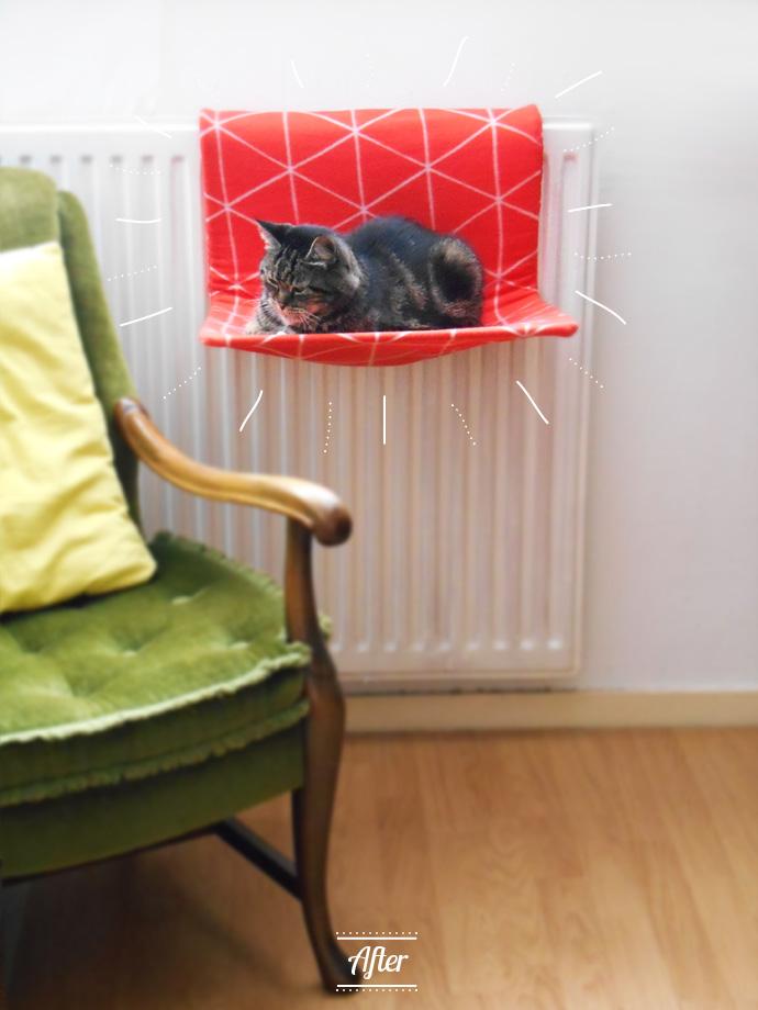 katten mand verwarming diy 6