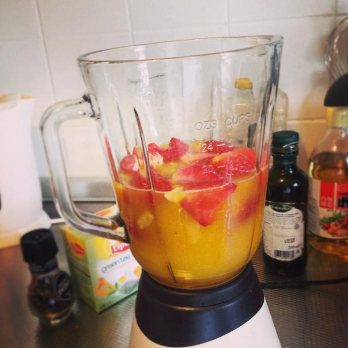 smoothie aardbei sinaasappel