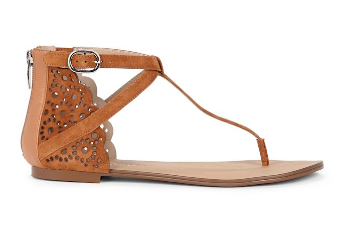 teresa laser cut t-strap sandals 1