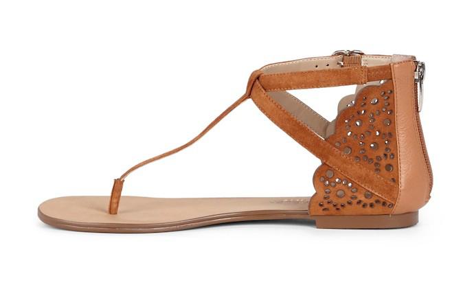 teresa laser cut t-strap sandals 2