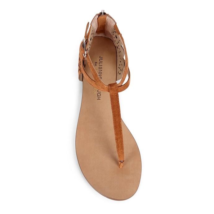 teresa laser cut t-strap sandals 3