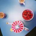 thee met aardbeien