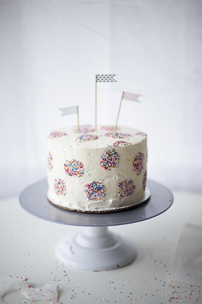 polka dot cake 5