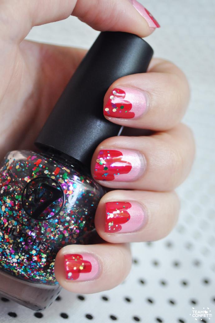 sprinkle nail art w7