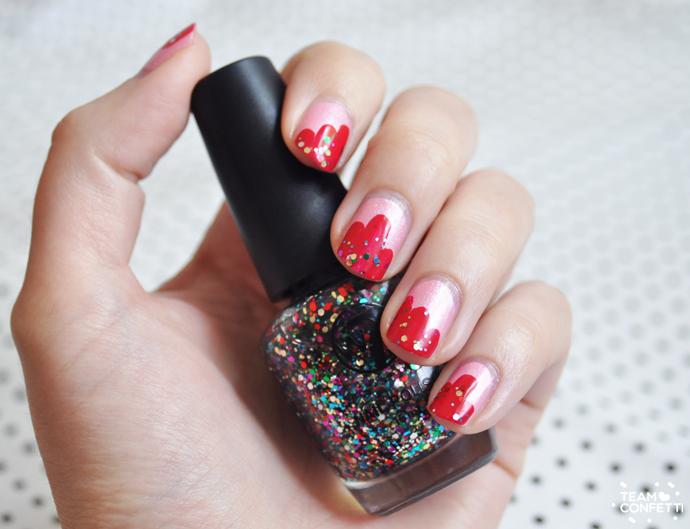 sprinkle nail art