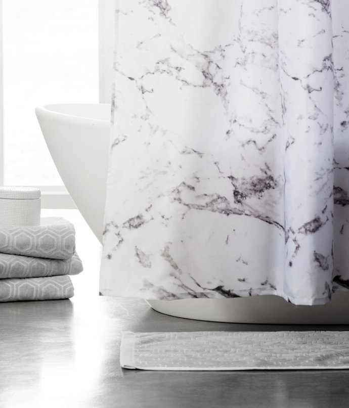 marble showercurtain