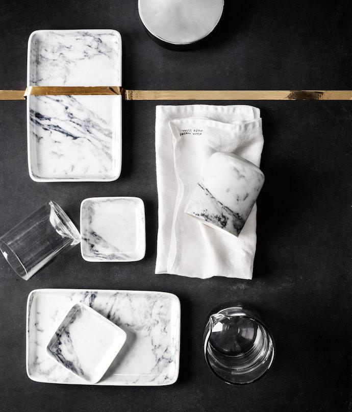 marble tablewear