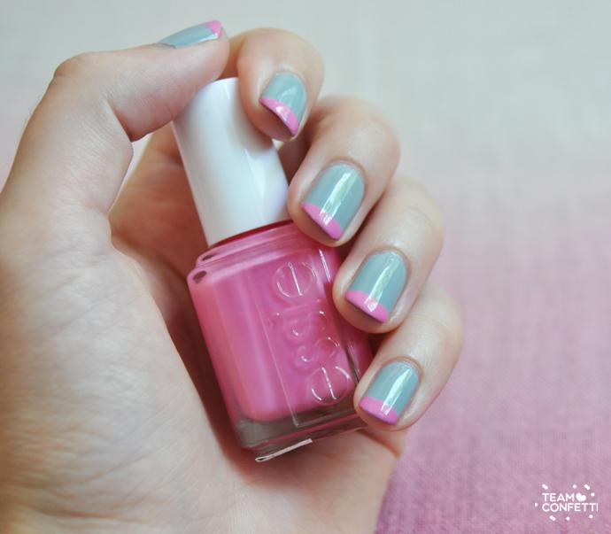 pink tips easy nailart 2