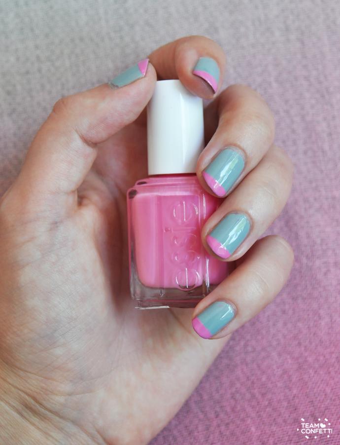 pink tips easy nailart 3