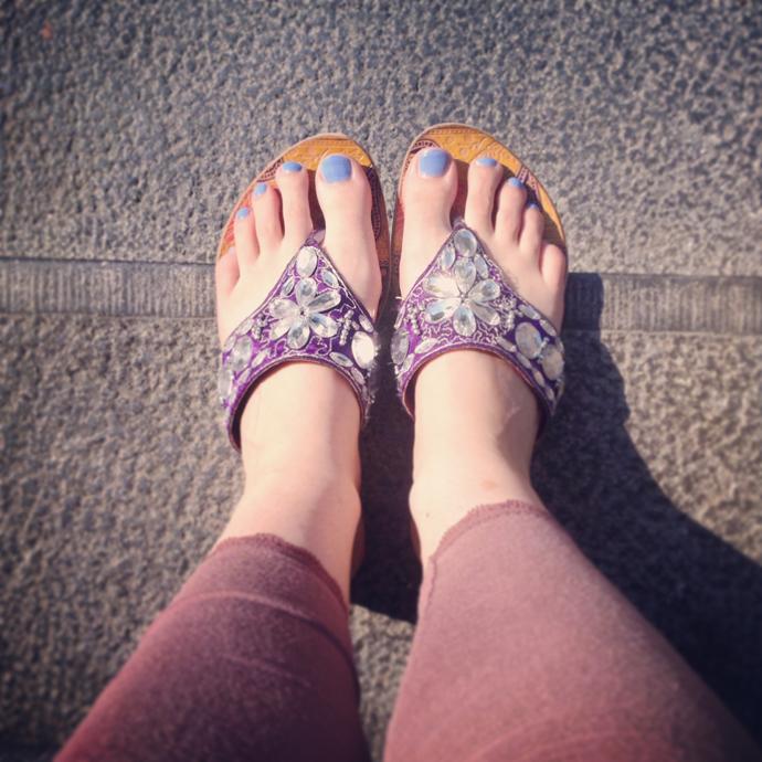 slippers en tenen