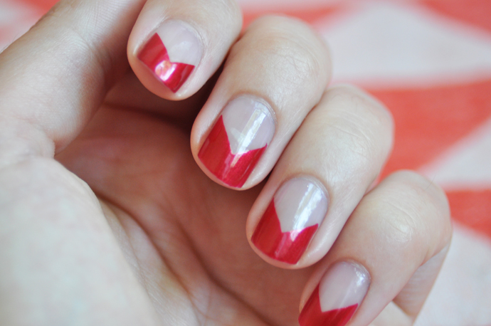 Nails Of The Week Simple Triangle Nail Art Team Confetti