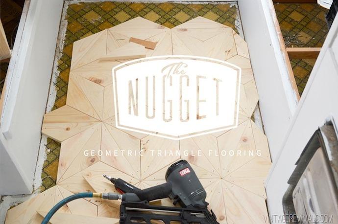DIY Geometric Triangle Flooring 1