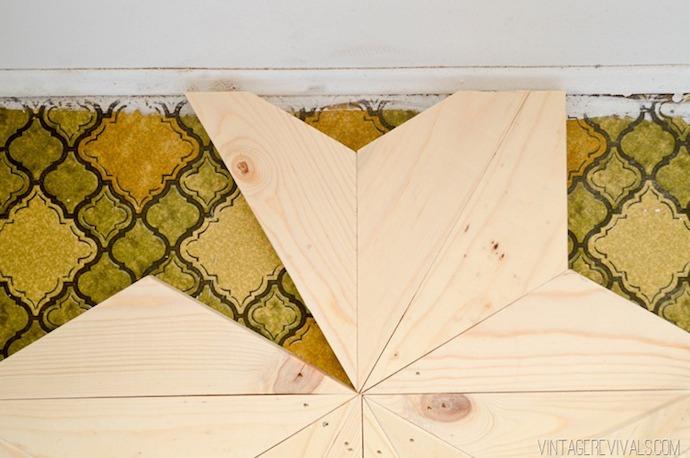 DIY Geometric Triangle Flooring 10