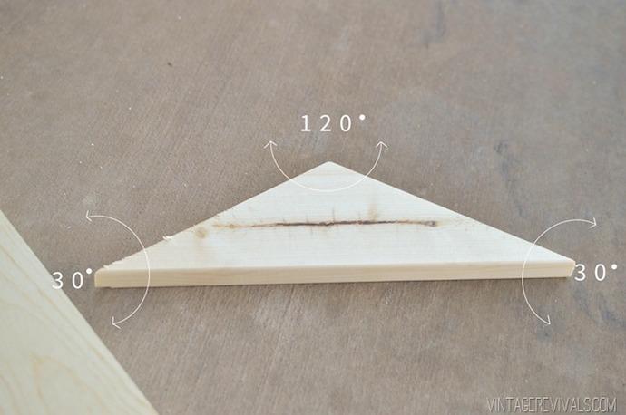 DIY Geometric Triangle Flooring 2
