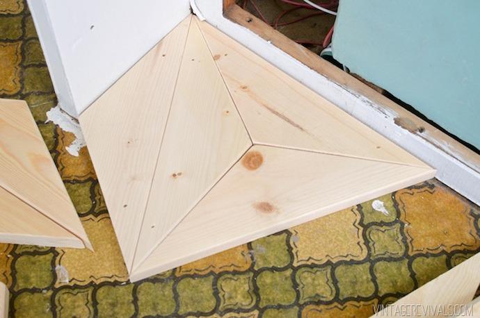 DIY Geometric Triangle Flooring 5