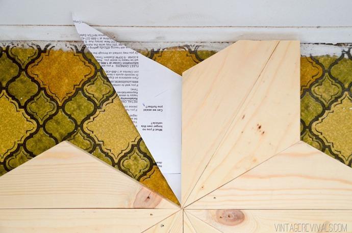 DIY Geometric Triangle Flooring 7
