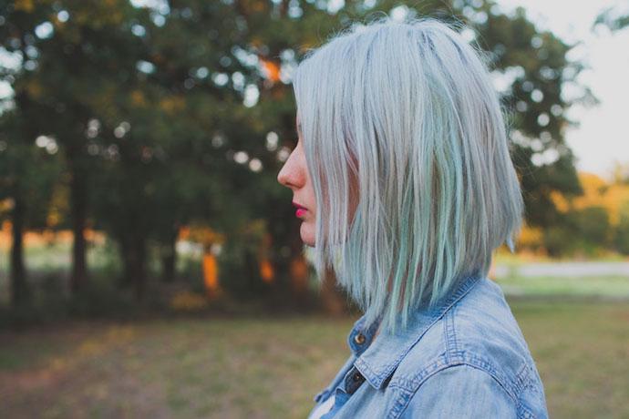 gray mint hair 1