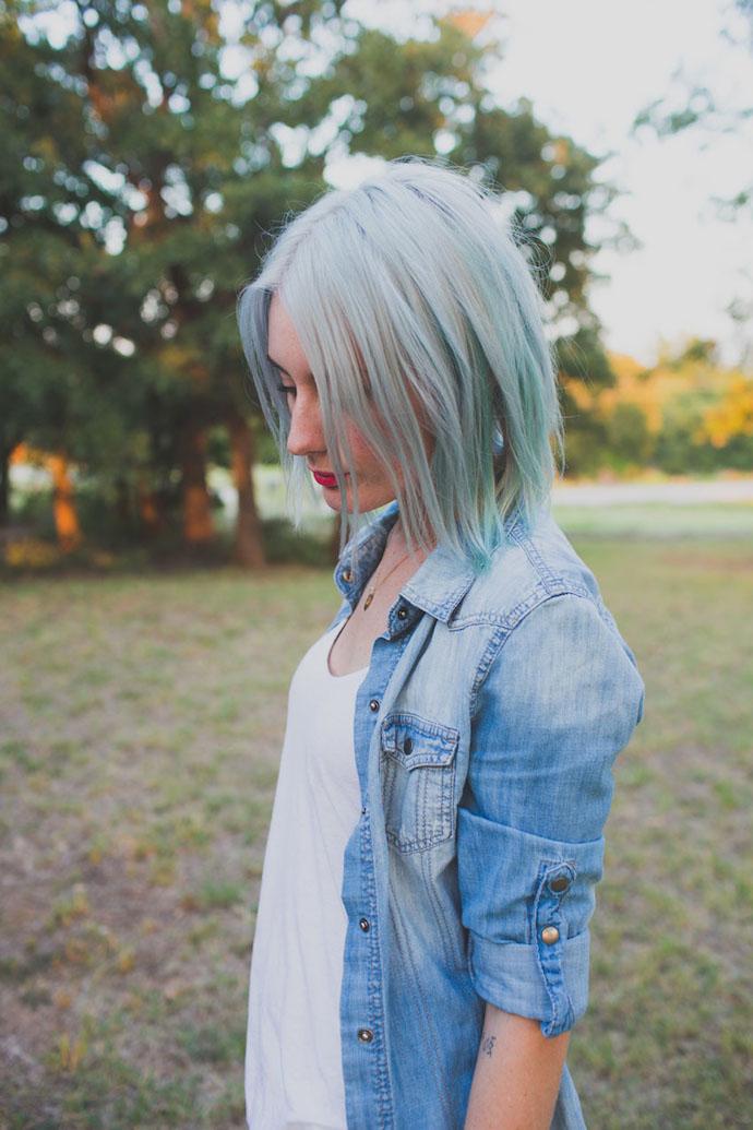 gray mint hair 2