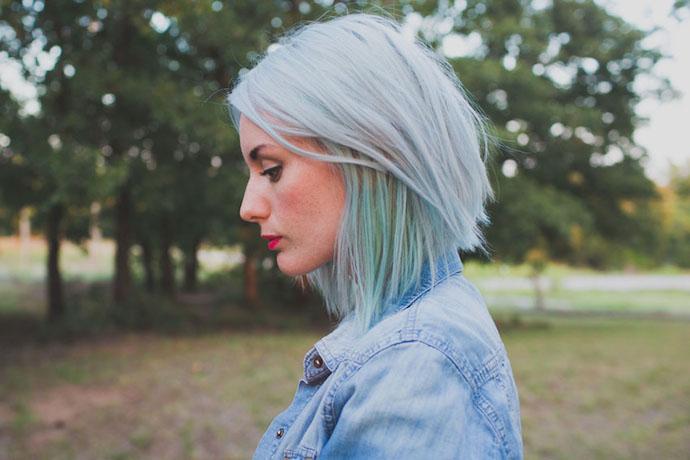 gray mint hair 3