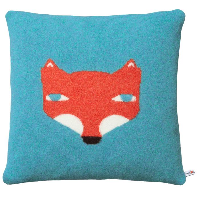 DONNA_WILSON_Fox-Cushion-Blue-40x40